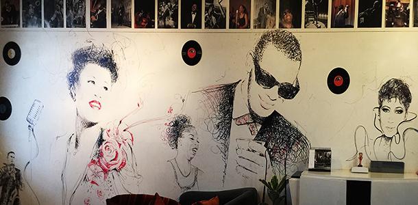 Aretha, Nina, Miles et les autres s'invitent sur le mur.