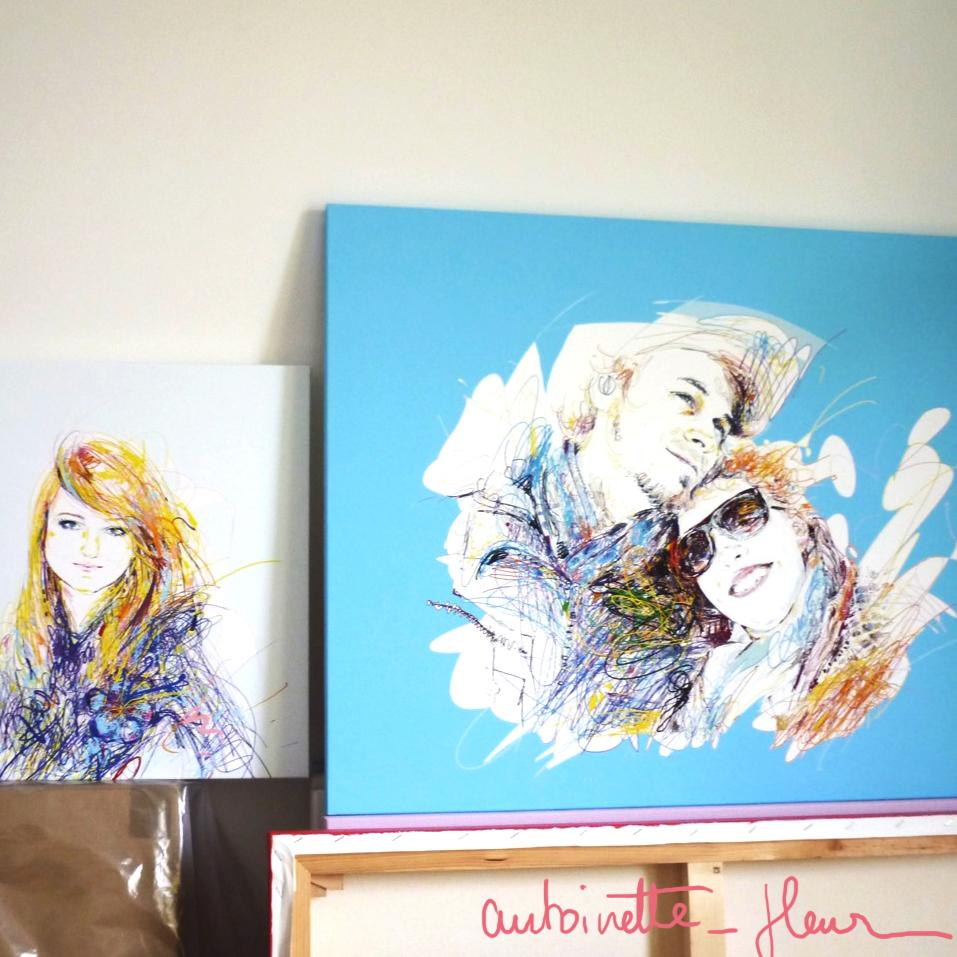 Les portraits sur toile